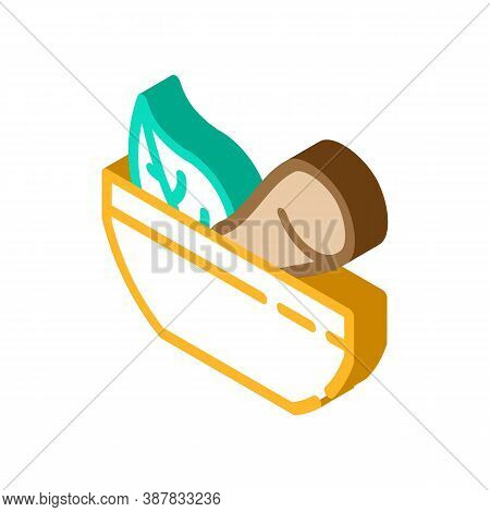 Bowl With Pounder Isometric Icon Vector Illustration