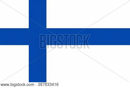 Finland Flag, Official Colors And Proportion Correctly. National Finland Flag. Flat Vector Illustrat