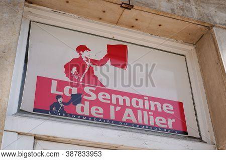 Vichy , Allier / France - 09 25 2020 : La Semaine De L'allier Logo And Sign Week Newspaper Devoted T