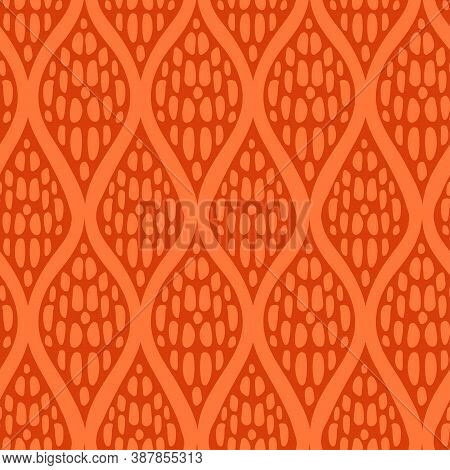 Autumn Plaited Knit Seamless Pattern In Vintage Soft Colors. Swatches Of Seamless Pattern Included I