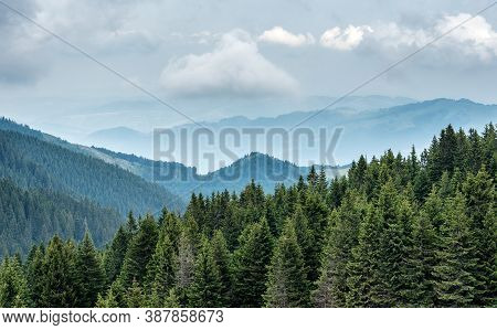 Mountain Landscape View. Mountain Layers Landscape. Meadows And Mountains Landscape. Blue Mountains