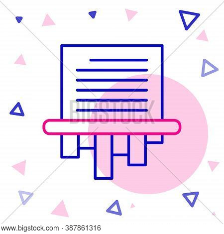 Line Paper Shredder Confidential And Private Document Office Information Protection Icon Isolated On