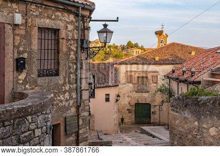 The Medieval Town Of Sepulveda In The Province Of Segovia, One Of The Most Beautiful Towns In Spain