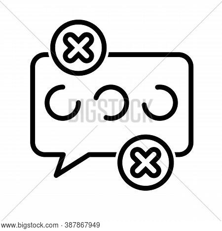 Fake News Chat Icon. Outline Fake News Chat Vector Icon For Web Design Isolated On White Backdrop