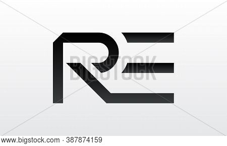 Initial Re Letter Logo With Creative Modern Business Typography Vector Template. Creative Letter Re