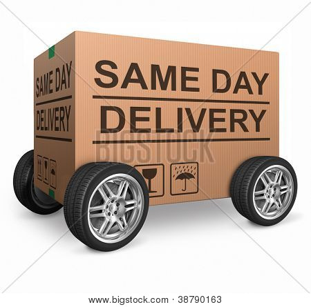 package delivery same day shipment urgent and quick cardboard box internet web shop order delivery