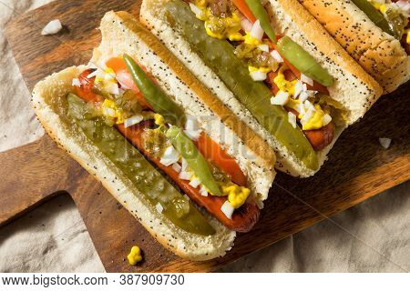Homemade Chicago Style Hot Dogs