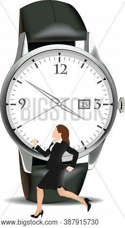 Woman Secretary Runs Watch Woman Secretary Runs Watch