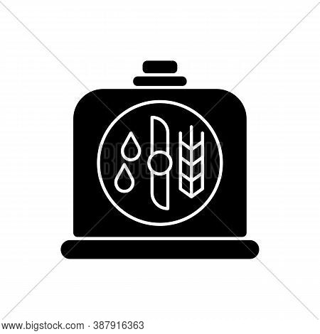 Brewers Yeast Black Glyph Icon. Brewery Production. Distillery Manufacture For Beer Production. Filt