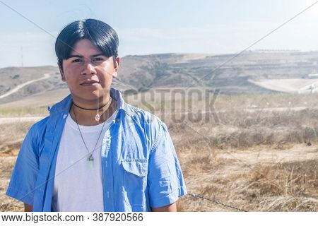 Latin Indian Boy In The Mountains In Mexico