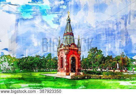 The Chapel Of Saints Peter And Paul In The Admiralty Of Emperor Peter I (kronstadt Admiralty). Krons