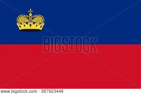 Icon Vector Flag Of The State Of Liechtenstein