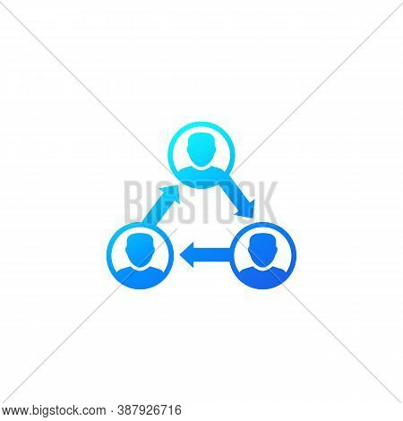 People Interacting, Team Interaction Icon, Eps 10 File, Easy To Edit