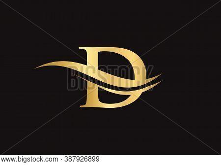 D Modern Creative Unique Elegant Minimal. D Initial Based Letter Icon Logo. D Logo Design