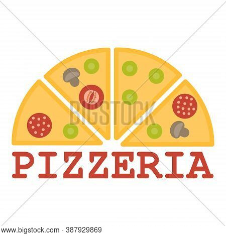 Pizzeria Logo Design. Vector Illustration. Logo For Pizzeria, Restaurant With Pizza Slices. Can Be A