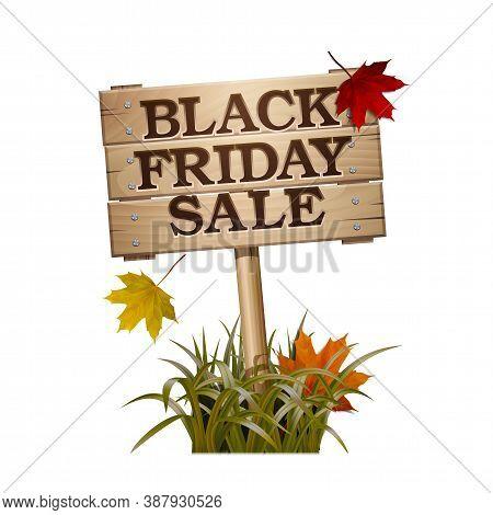 Black Friday Sale Lettering On Wooden Sign