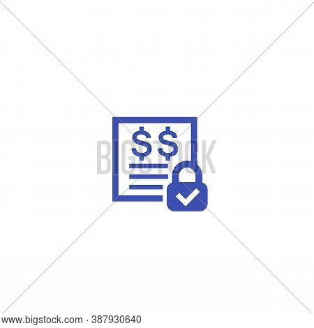 Fixed Costs Icon On White, Eps 10 File, Easy To Edit