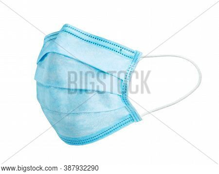 Medical Mask. Doctor Mask For Protection Against The Virus. Isolated On A White Background