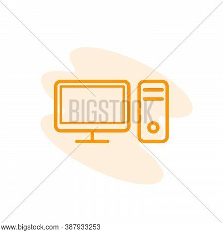 Illustration Vector Graphic Of Pc Icon Template
