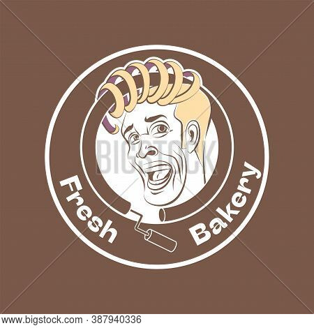 Logo With A Funny Personage For Bakery