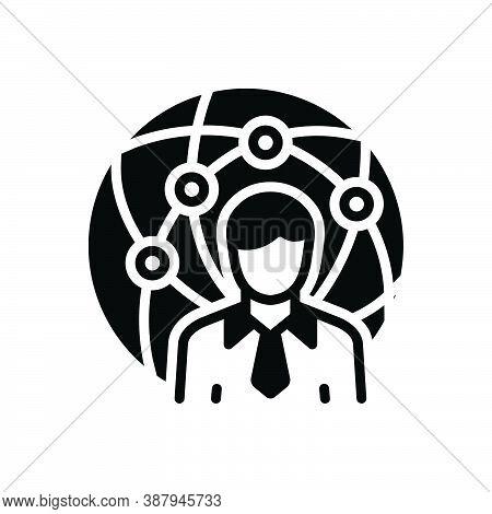 Black Solid Icon For Representative Delegate Attorney Proxy Agent Negotiator