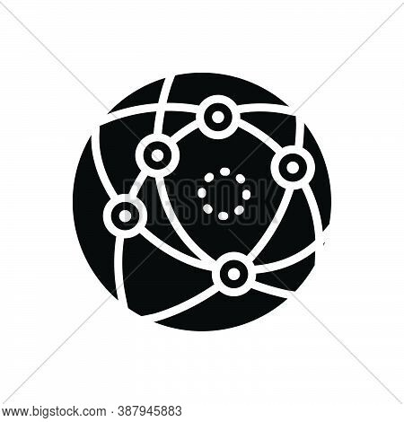 Black Solid Icon For Internet Computer-network Cyberspace Web Website Net Connection Http Globe