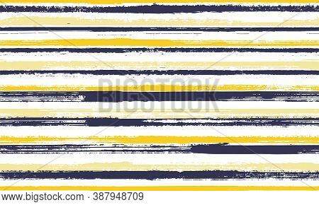 Pain Thin Parallel Lines Vector Seamless Pattern. Beautiful Bedding Textile Print Design. Retro Text