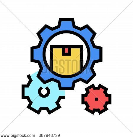 Delivering Working Mechanism Color Icon Vector. Delivering Working Mechanism Sign. Isolated Symbol I