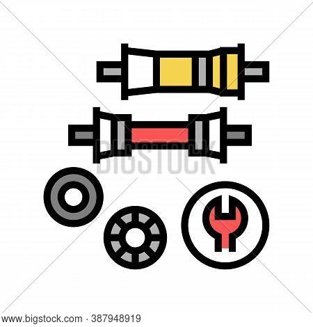 Bottom Bracket Carriage Elimination Color Icon Vector. Bottom Bracket Carriage Elimination Sign. Iso