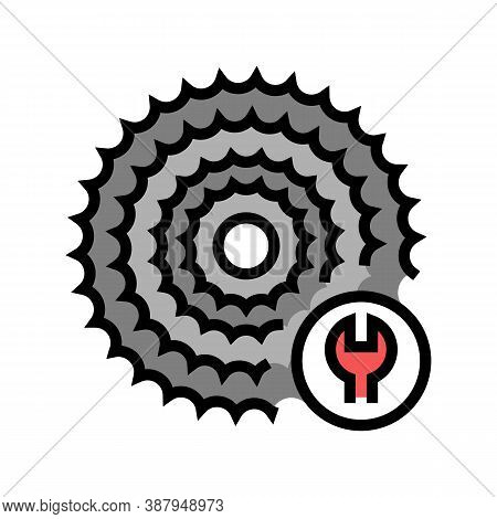 Cassette Cogset Replacement Color Icon Vector. Cassette Cogset Replacement Sign. Isolated Symbol Ill