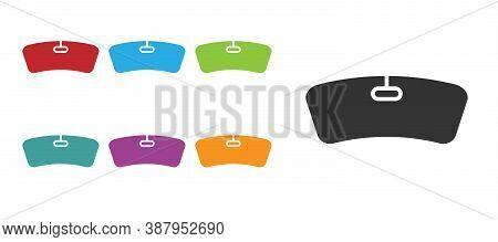 Black Windshield Icon Isolated On White Background. Set Icons Colorful. Vector Illustration