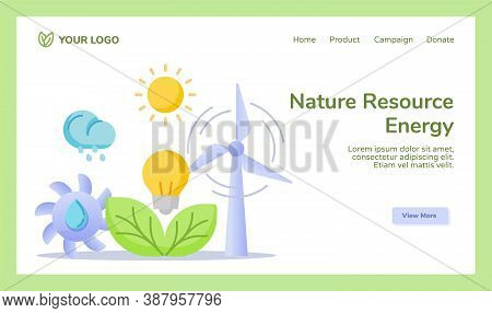 Nature Resource Energy Hydro Wind Sun Solar Leaf Bio Power Energy Campaign For Web Website Home Home