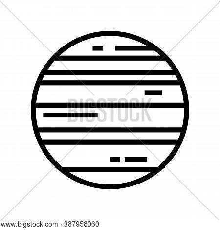 Neptune Planet Line Icon Vector. Neptune Planet Sign. Isolated Contour Symbol Black Illustration