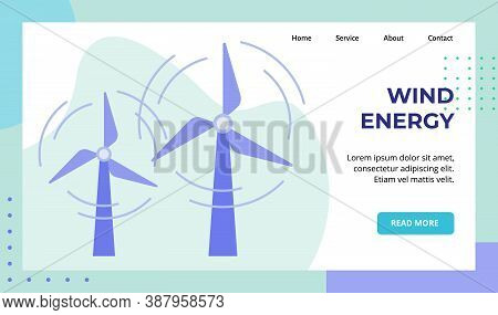 Wind Energy Propeller Rotate Campaign For Web Website Home Homepage Landing Page Template Banner Wit