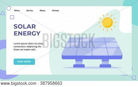 Solar Energy Panel Cell Sun Campaign For Web Website Home Homepage Landing Page Template Banner With