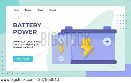 Battery Power Recharge Energy Campaign For Web Website Home Homepage Landing Page Template Banner Wi