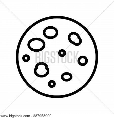 Pityriasis Rosea Skin Disease Line Icon Vector. Pityriasis Rosea Skin Disease Sign. Isolated Contour