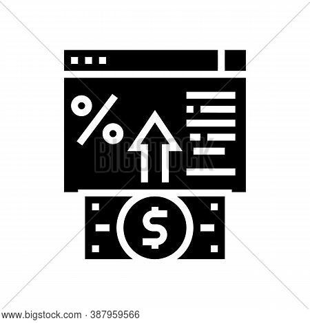 Electronic Deposit Glyph Icon Vector. Electronic Deposit Sign. Isolated Contour Symbol Black Illustr