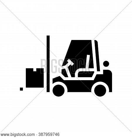 Loader Cart Glyph Icon Vector. Loader Cart Sign. Isolated Contour Symbol Black Illustration
