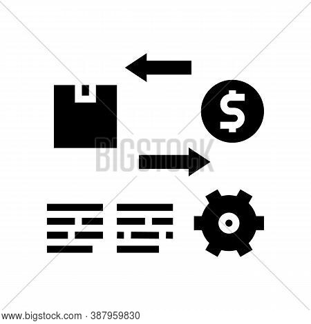 Import And Export Service Cost Glyph Icon Vector. Import And Export Service Cost Sign. Isolated Cont