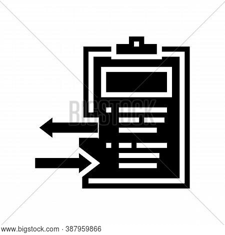 Import And Export Document Glyph Icon Vector. Import And Export Document Sign. Isolated Contour Symb
