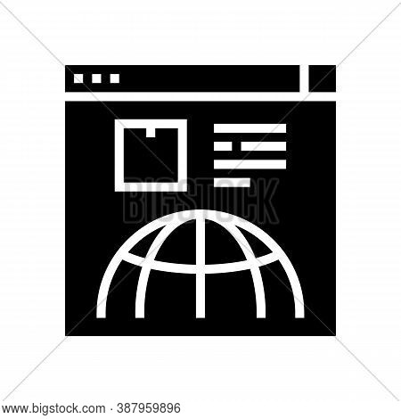 Delivery Service Web Site Glyph Icon Vector. Delivery Service Web Site Sign. Isolated Contour Symbol