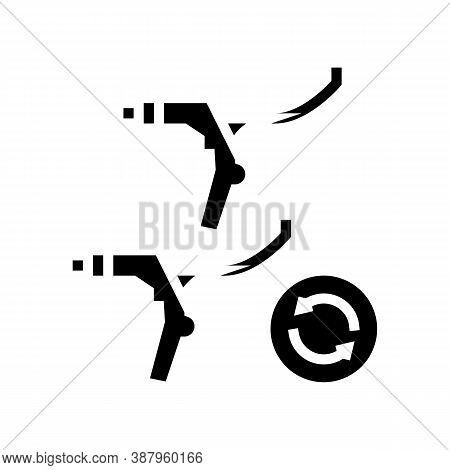 Brake Levers Replacement Glyph Icon Vector. Brake Levers Replacement Sign. Isolated Contour Symbol B