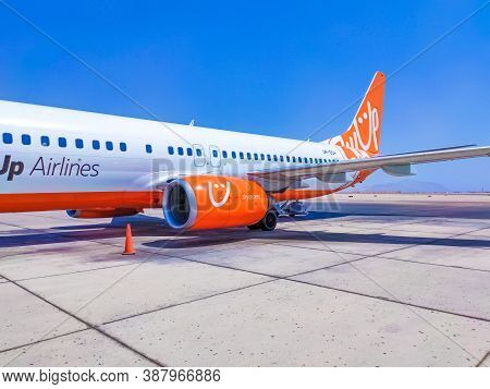 Sharm El Sheikh, Egypt - September 15, 2020: Skyup Airlines Boeing 737-800 Aircraft On The Parking A