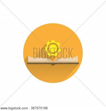 Guide Flat Icon. Manual Book. User Manual Colorful Flat Icon With Long Shadow. Manual Flat Icon