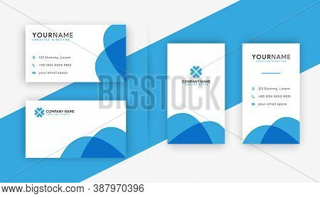 business card. modern business card design . double sided business card design template . flat blue gradation business card inspiration. custom business card template design. new business card collection. white and blue business cards