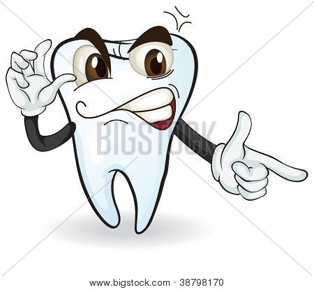 detailed illustration of a tooth on white background
