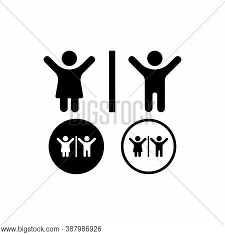 Restroom Signs. Men And Women Icon. Toilet Icon. Vector Eps 10. Isolated On White Background