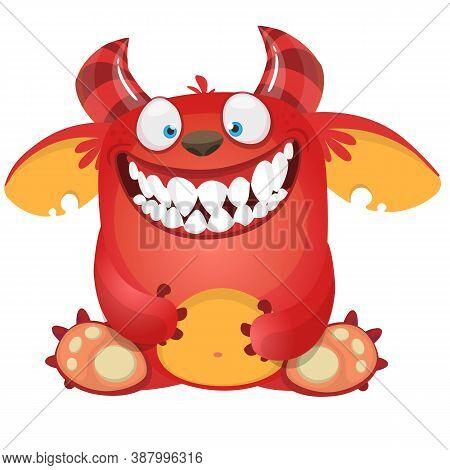 Funny Cartoon Monster. Halloween Illustration.