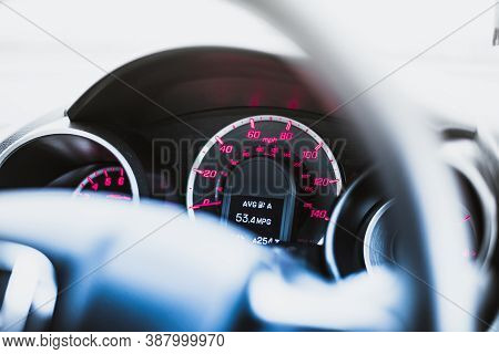 Average Fuel Consumption Display On A Dashboard
